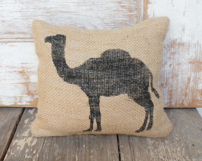 Camel -  Burlap Feed Sack Doorstop - Camel Door Stop - Camel Decor - Desert Animal - Camel Decor