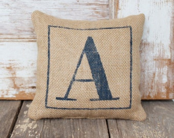 Classic Monogram Burlap Doorstop -  Burlap Fabric Doorstop - Personalized - Monogram Home Decor - Door Stop