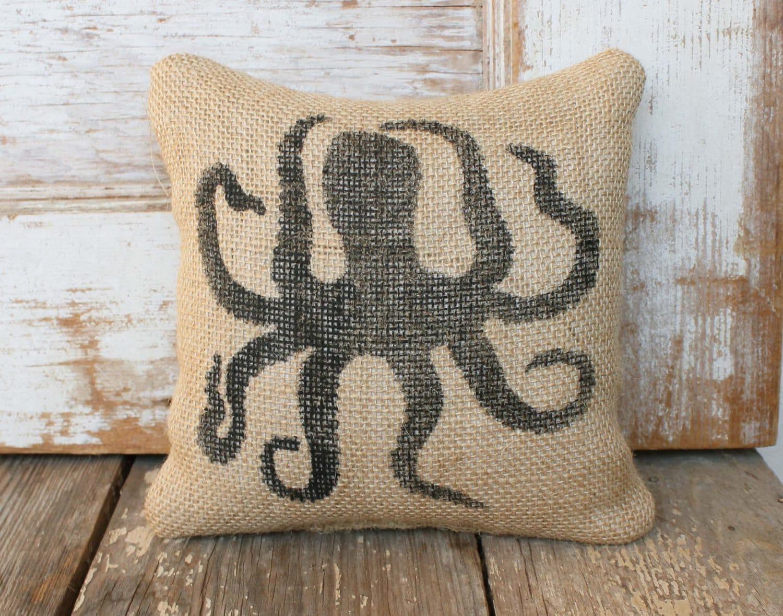 Merveilleux Octopus   Burlap Feed Sack Doorstop   Nautical Door Stop   Octopus Decor    Octopus Silhouette