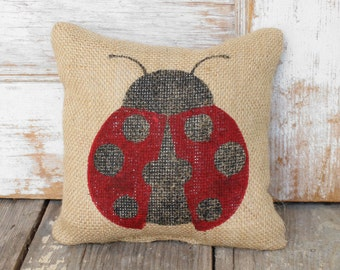 Ladybug - Burlap Doorstop - Ladybug Decor - Burlap Door Stop - Garden Decor - ladybug doorstop - Ladybird - insect
