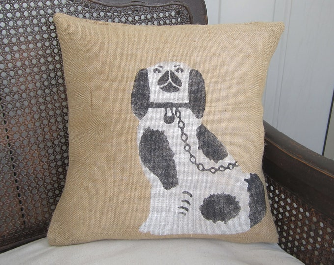 Burlap Pillow 16x16