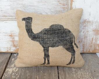 Camel -  Burlap Feed Sack Doorstop - Camel Door Stop - Camel Decor - Desert Animal - Camel Decor