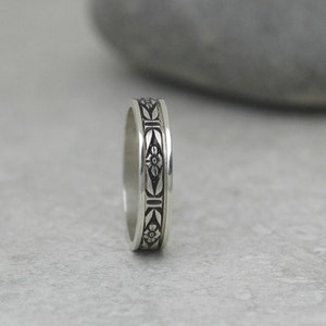 Choose Your Finish Handmade Spinner Ring in Sterling Silver Made Upon Order