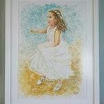 Art print Dancing Girl - from my original watercolour.