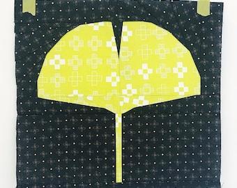 Ginkgo Leaf Foundation Paper Piecing pattern