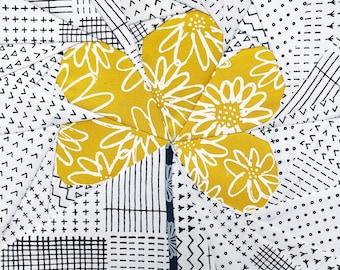 Wire Flower Foundation Paper Piecing pattern