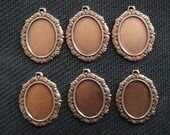 Antique Copper Fancy Edge Setting Set of Six 18x13
