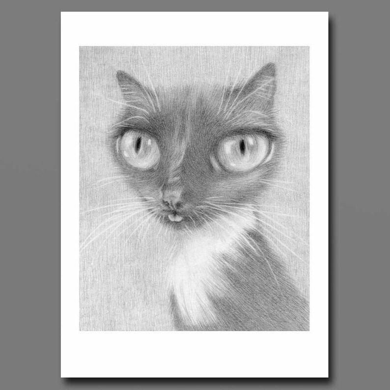 d038c7b2067110 Stampa artistica smoking in gatto gatto lingua blep derpy | Etsy