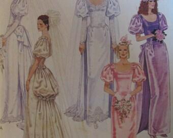 McCalls UNCUT size 10-12-14 Wedding / Brides Maid Dresses Pattern # 3534