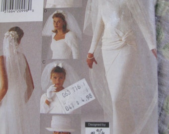 Vogue Accessories UNCUT free size Bridal Veils & Hat for Wedding Pattern # 9183 designed by Lola