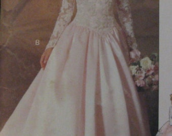 McCalls UNCUT size 8-10-12 Wedding Dresses Pattern # 5831