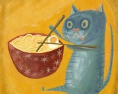 Ramen Kitty. Limited edition print by Matte Stephens.