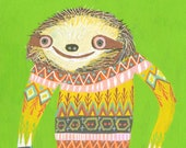 Carl in his favorite sweater. Limited edition print by Matte Stephens