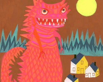 Kaiju. Limited edition print by Matte Stephens