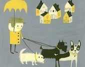 Walking with friends. Limited edition print by Matte Stephens.
