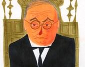 Mr. Potter. Original marker drawing by Matte Stephens.