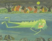 The Fishman of New England. Limited edition print by Matte Stephens.
