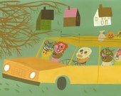 Trick or treat bandits.  Limited edition print by Matte Stephens.
