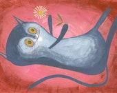Flower. Original gouache painting by Matte Stephens.