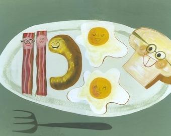 lumberjack breakfast Limited edition 11x14 print by Matte Stephens