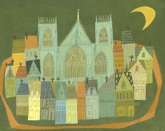 York, England.  Limited edition print by Matte Stephens.
