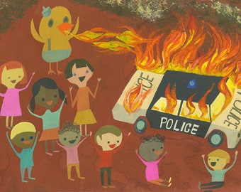 Duck the Police. Limited edition print by Matte Stephens.