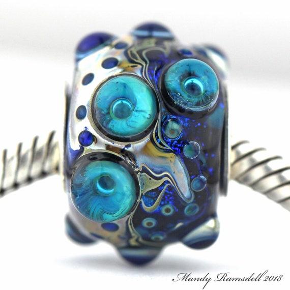 b840853b5 OCTOPUS INK European charm bead for charm bracelets murano | Etsy