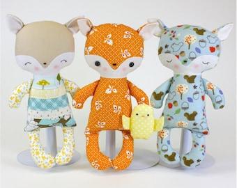 SALE Fox Baby PDF Doll Pattern