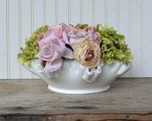 Vintage Silvercrest Milk Glass Ruffled Bowl - Fenton - Vintage Wedding - Royal Hill Vintage