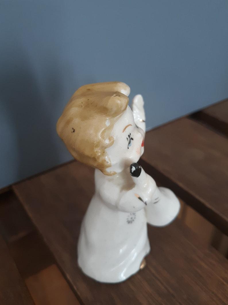 Instrument Music Vintage Girl Figurine