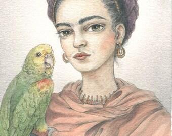 Frida Kahlo: a 5x7 fine art print by candace jean