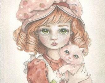 Strawberry Shortcake: a 5x7 fine art print by candace jean