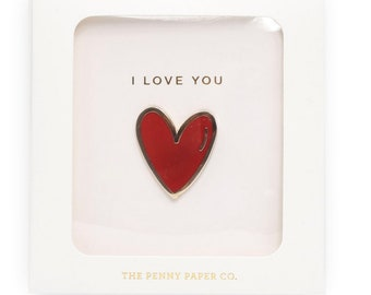 Boxed Gift Set, Heart of Gold, Mom Enamel Pin