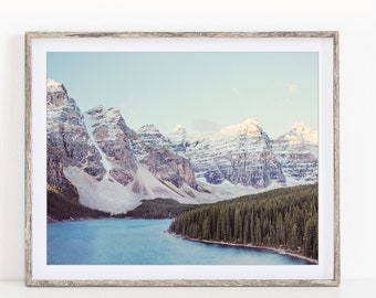 Mountain Landscape Photography, Nordic Nature Photography Print, Winter Landscape Print, Modern Rustic Wall Art Print