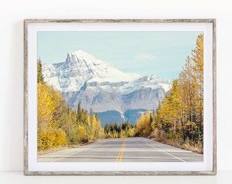 Fall Landscape Photography, Mountain Print, Nordic Nature Photography Print, Fall Decor, Rustic Wall Decor, Wall Art Prints