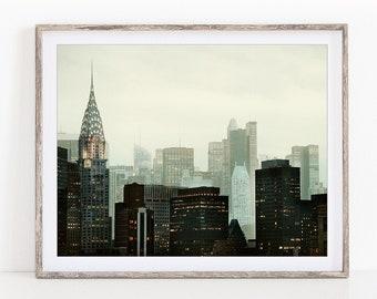 NYC Skyline, New York Print, Travel Photography Print, Chrysler Building, Double Exposure, NYC Photography, Manhattan - Urban Vernacular