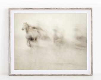 Horse Photography, Abstract Art Print, Sepia Fine Art Photography Print, Nature Print, Wall Art, Home Decor, Fine Art Print