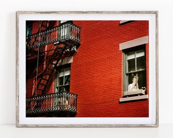 New York Print, New York Gift for Women, NYC Photography Print, Fine Art Photography, Greenwich Village, New York City - The Lady in Red