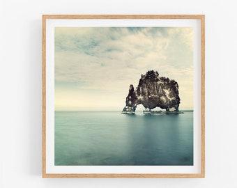 Iceland Landscape Photography, Modern Ocean Wall Art Print, Nature Photography Print, Square Prints, Landscape Print, Minimalist Art