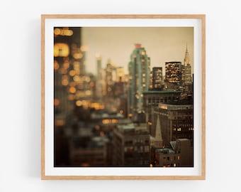 New York City Skyline, New York Print, Chrysler Building, Abstract Photography Print, Fine Art Photography, Square Fine Art Print