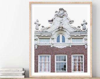 Amsterdam Print, Canal House Architecture Print, Amsterdam Wall Art Print, City Art, Travel Photography