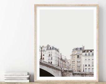 Paris Print, River Seine Photograph, Paris Wall Art, City Art, Travel Photography Print, French Neutral Wall Art