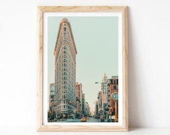 Flatiron Building Photograph, New York City Photography, New York Print, Travel Wall Art Prints, NYC Architecture Print