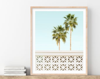 Palm Springs Print, California Wall Art, Prints, Mid Century, Modern Home Decor, 1960s Retro Decor, Palm Trees, Travel Photo