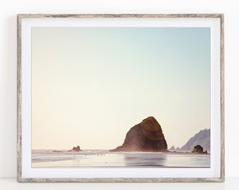 Beach Print, Cannon Beach Wall Art Print, Beach Decor, Ocean Photography Print, Coastal Landscape Print