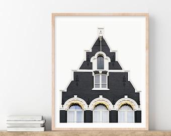 Amsterdam Print, Netherlands, Scandinavian Wall Art, Dutch Architecture Art Print, Neutral Wall Art, Travel Photography