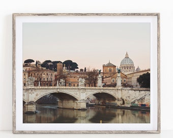 Rome Print, Vatican St Peter's Basilica, Rome Photography Print, Italy Wall Art, Italy Gift, Rome Italy Skyline, Fine Art Photography