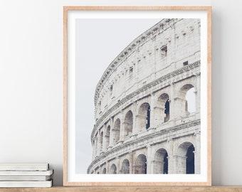 Roman Colosseum, Rome Photography Print, Rome Italy, Wall Art Print, Fine Art Photography, White Living Room Wall Decor