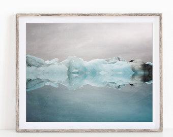 Iceberg Photograph, Iceland Print, Nordic Print, Landscape Photography, Blue Wall Art, Fine Art Prints, Nature Photography