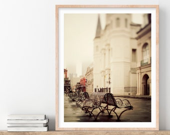 Jackson Square, New Orleans Photograph, French Quarter, New Orleans Wall Art, Travel Photography, 8x10 Architecture Print, Vertical Print